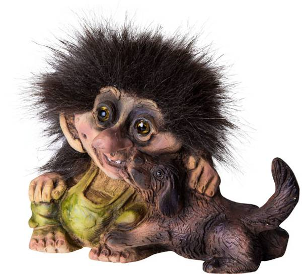 Image of Troll with dog (Troll # 046)