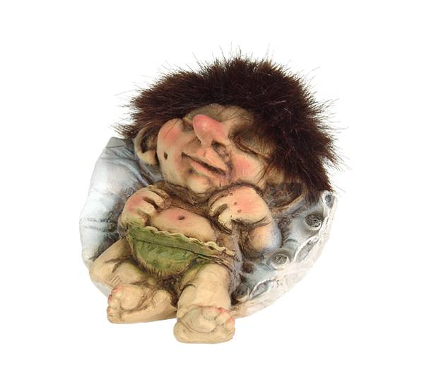 Image of Troll baby sleeping (Troll # 047)