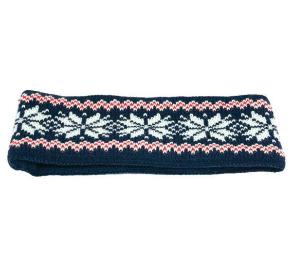 Image of Headband knitted stars navy/white/red