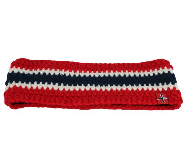 Image of Headband crochet with flag stripes red/white/blue