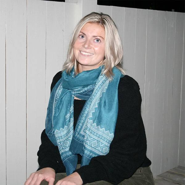 Image of Marius® scarf,petrol/blue/wht
