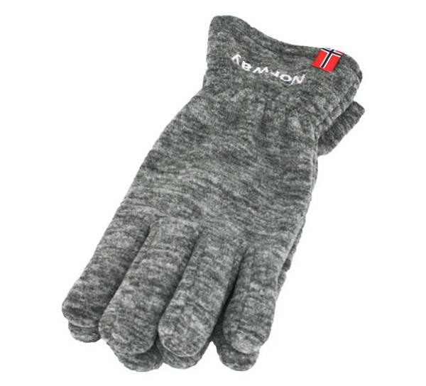 Image of Fleece gloves with flag and Norway grey