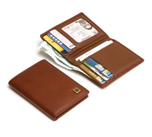 Image of Wallet, mod. 'Midtstu' Elk leather, Jopo