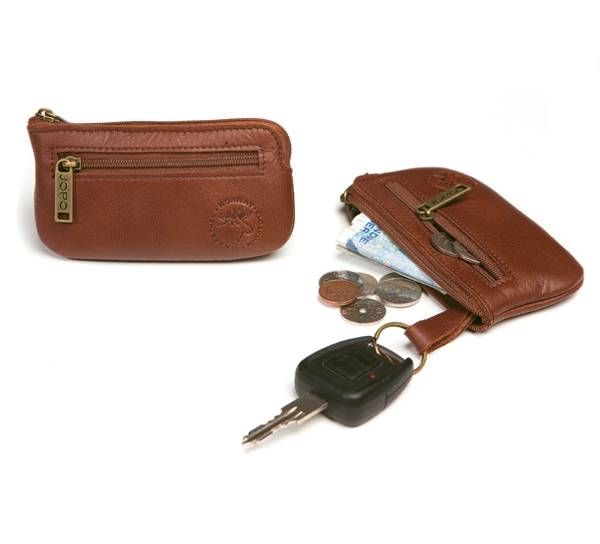 Image of Key holder w zipper, and for coins, Jopo