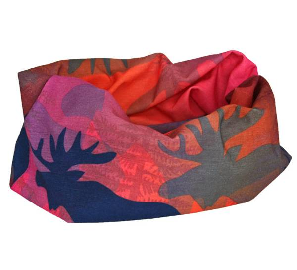 Image of Neck gaiter moose in the forest, Blue/pink/purple
