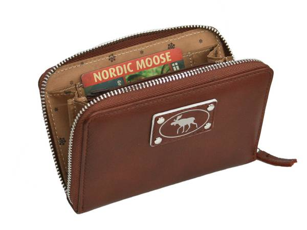 Image of Ladies wallet with silver moose, Jopo