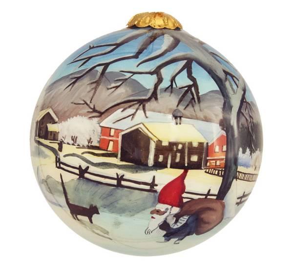 Image of Glass ball, santa and farm