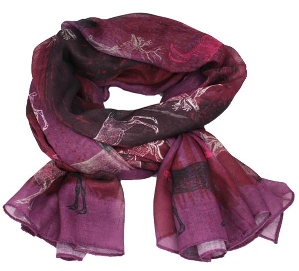 Image of Scarf with old reindeer