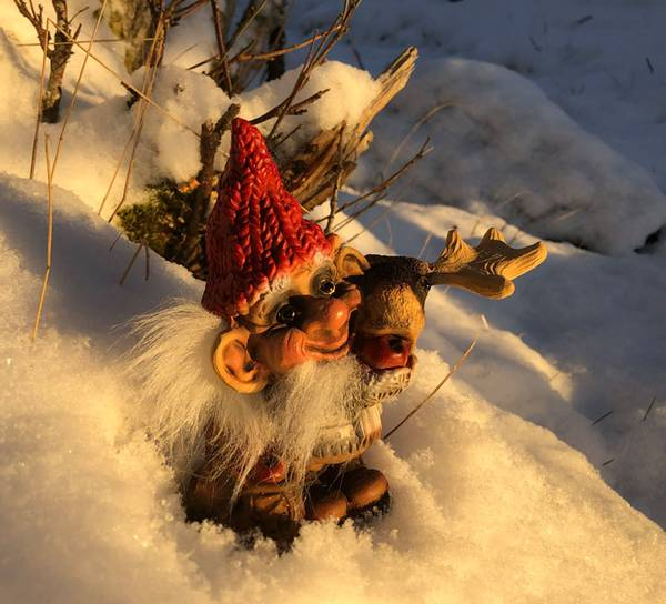 Image of Ny Form santa with moose and apple