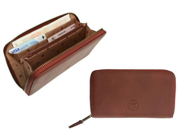 Image of Zip around wallet, elk leather, Jopo