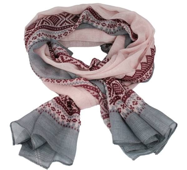 Image of Marius® scarf, pink/dark red/grey