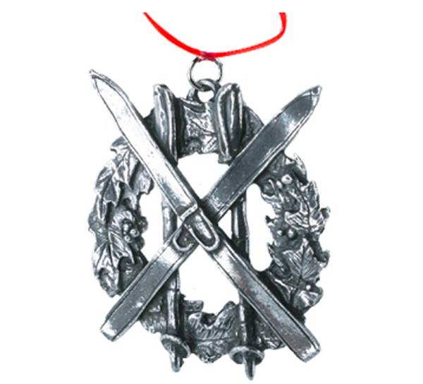 Image of Ornament, Wreath with skis Tinn-Per