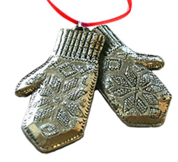 Image of Ornament Selbu mittens Tinn-Per