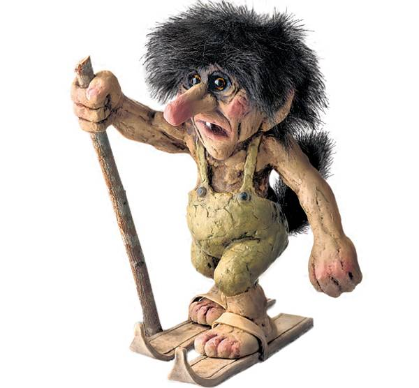 Image of Troll  with skis (Troll # 122)
