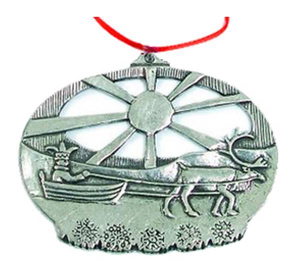 Image of Ornament, Sami with reindeer Tinn-Per