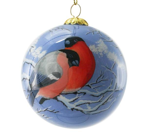 Image of Glass ball, bullfinch, 'Bergerlind,