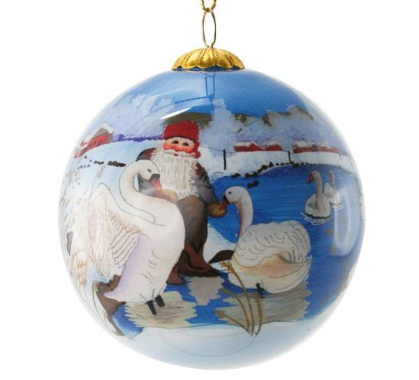 Image of Glass ball with swans