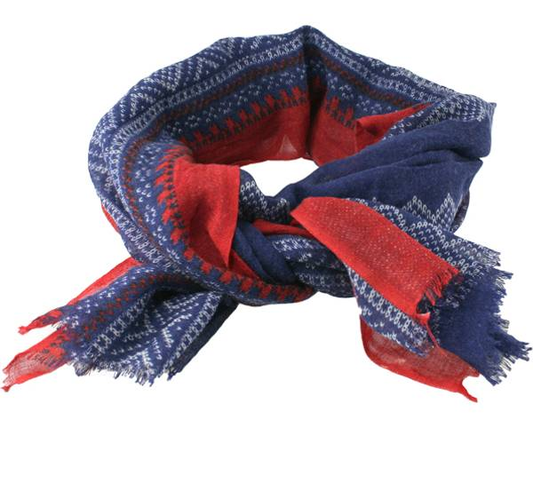 Image of Wool scarf, Marius®, blue/red/white,