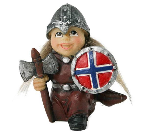 Image of Viking child with axe and shield