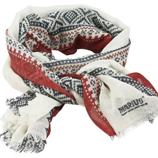 Image of Wool scarf, Marius®,white/blue/red