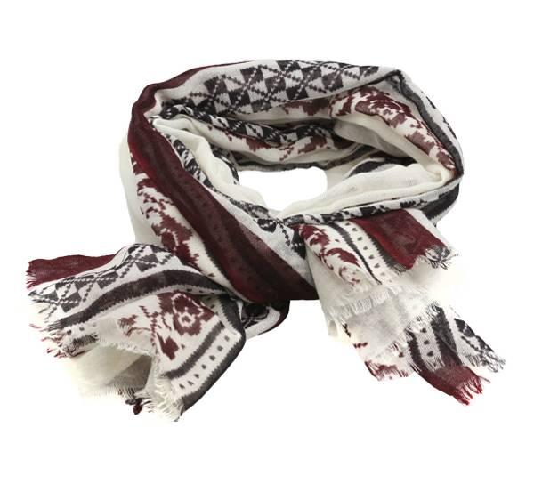 Image of Wool scarf Hurdalsrose white
