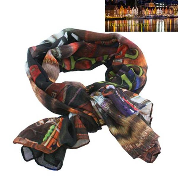 Image of Scarf with the pier of Bergen