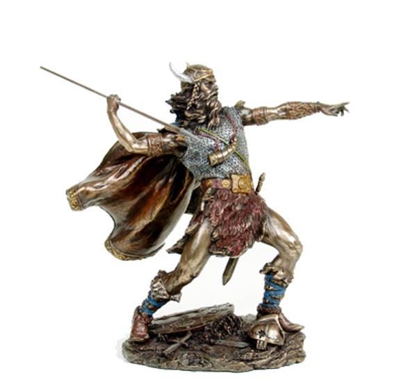 Image of Viking warrior spearing