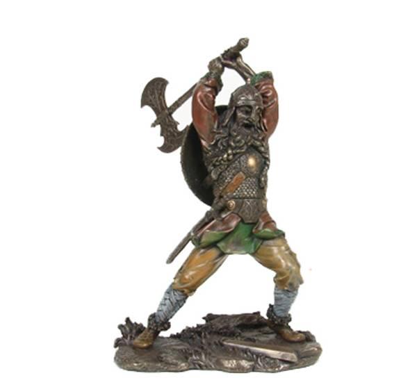 Image of Viking warrior chopping w/axe