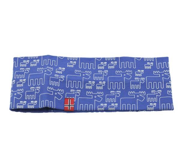 Image of Headband with moose design blue/white