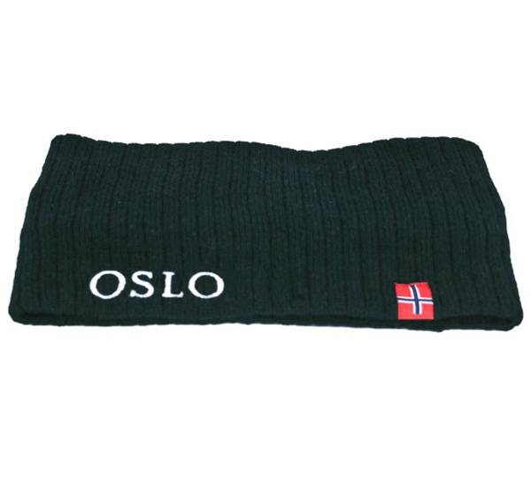 Image of Headband knitted w/flag, Oslo dark navy blue