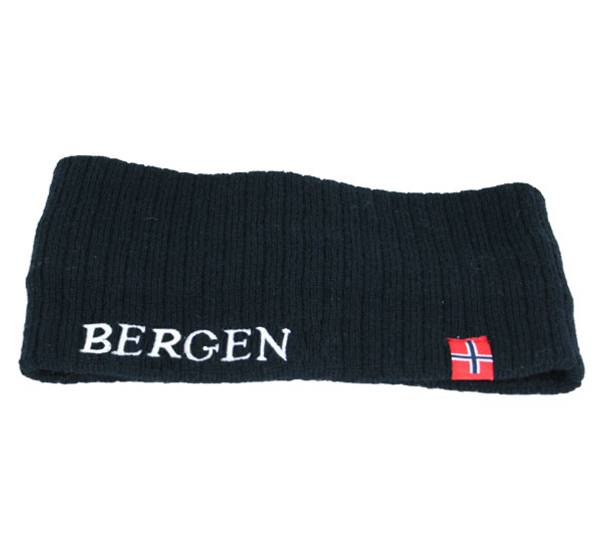 Image of Headband knitted w/flag, Bergen black