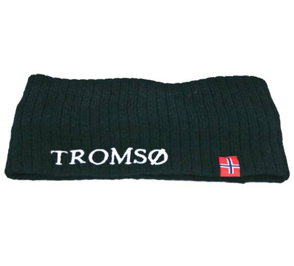 Image of Headband knitted w/flag, Tromsø dark navy blue