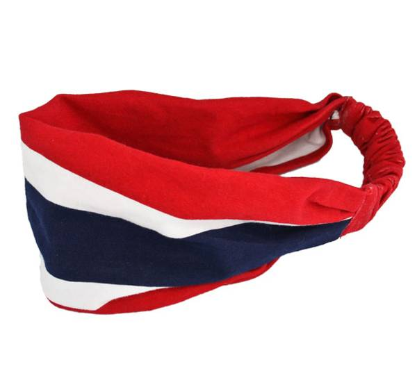Image of Hairband with flag stripes red/white/navy blue