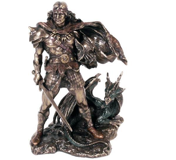 Image of Viking med drake og sverd