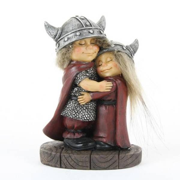 Image of Viking children hugging