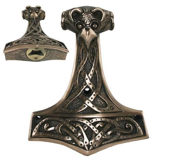 Image of Mjolnir, Thors hammer,  bottle opener