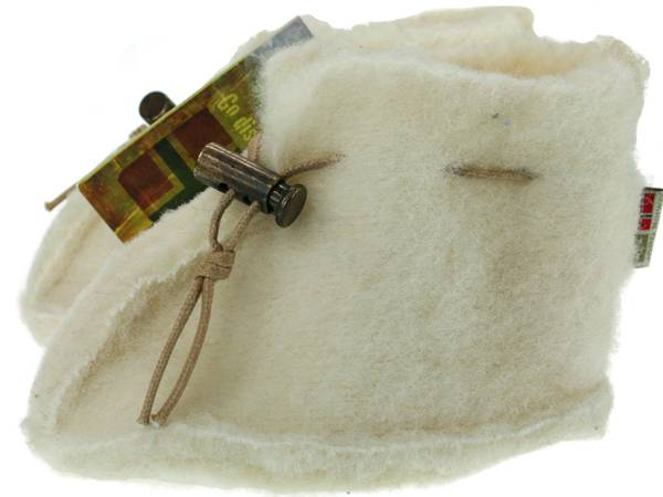 Image of Baby wool slippers, white