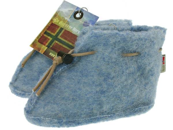 Image of Baby wool slippers, blue