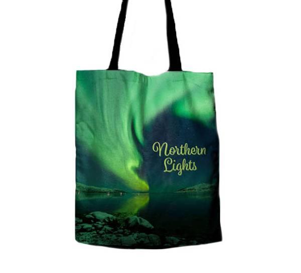 Image of Northern lights shopping bag