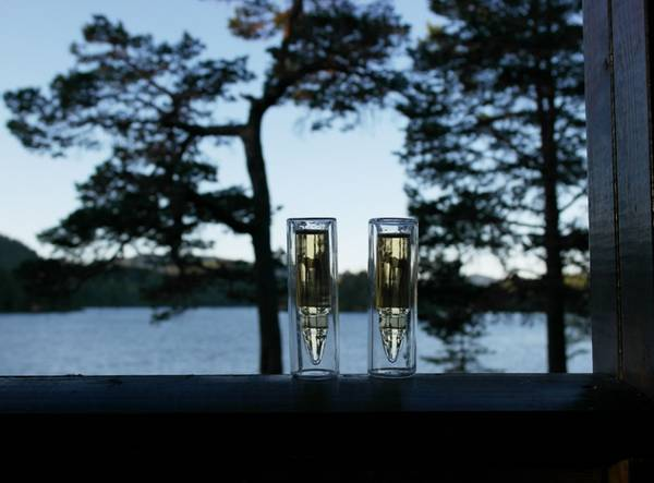 Image of Silver Moose Glass, set of two