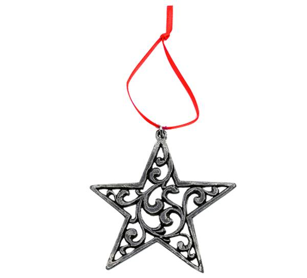 Image of Ornament, Rosemaling Star Tinn-Per