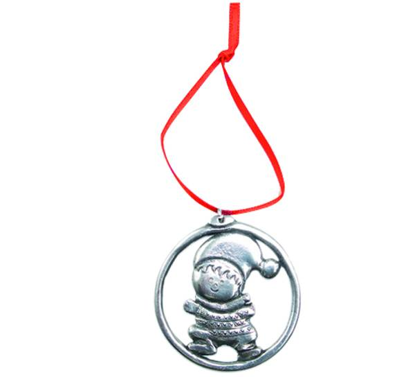 Image of Ornament, Christmas boy Tinn-Per