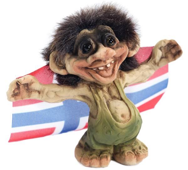 Image of Troll holding flag(Troll # 017)
