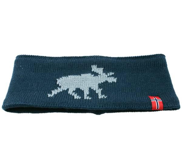 Image of Headband knitted moose petrol/white