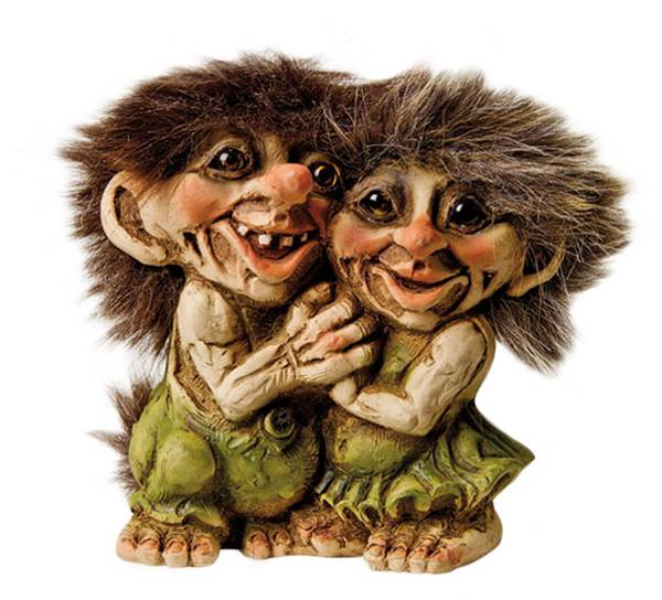 Image of Troll couple holding hands (Troll # 055)