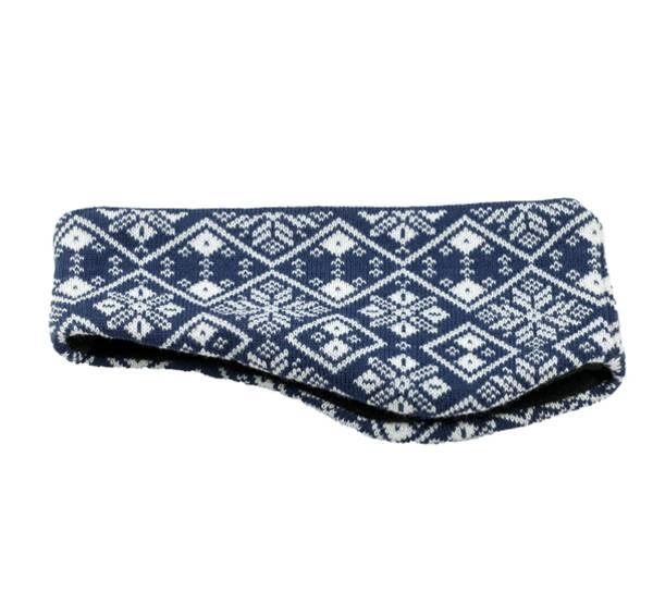Image of Knitted headband blue/white