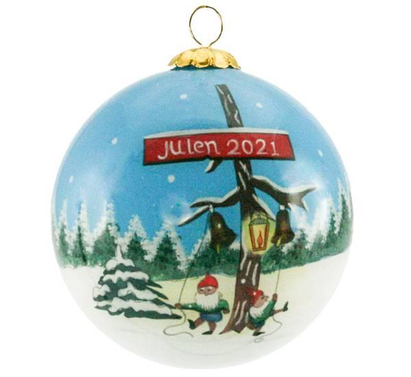 Image of Glass ball, Julen 2021, Swedish flag