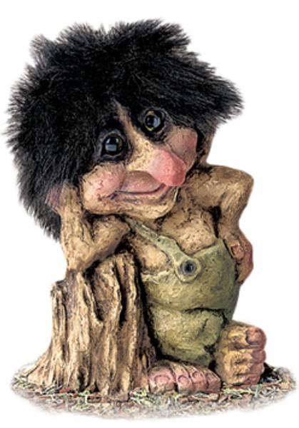 Image of Troll leaning on stump (Troll # 265)