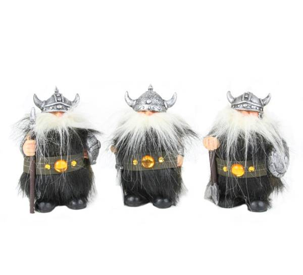 Image of Vikings with weapon, set of 3