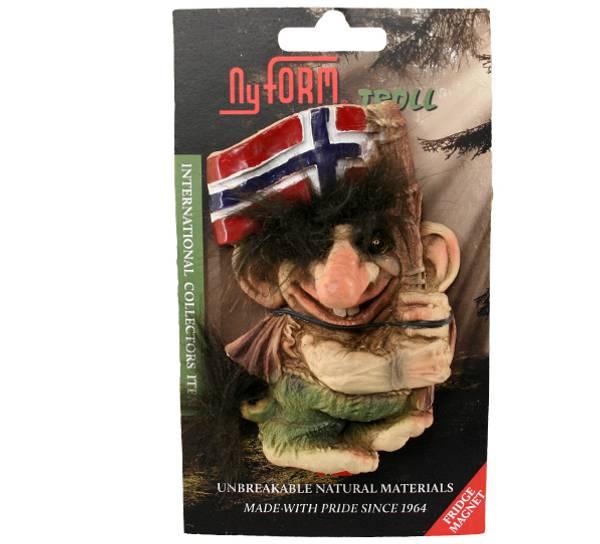 Image of Troll magnet, waving flag (Magnet # 2006)